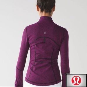 Lululemon Define Jacket in Deep Fuchsia Black